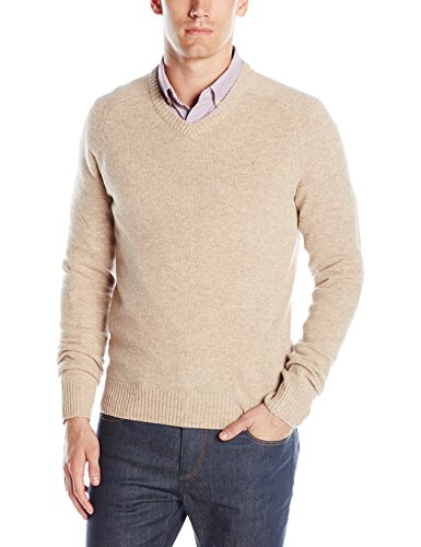 Original Penguin Men's Lambswool V-Neck Sweater, Kelp, Large