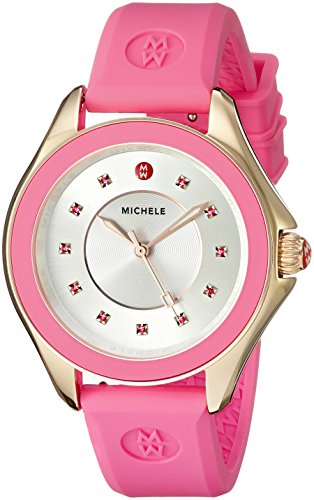 MICHELE Women's Cape Analog Display Analog Quartz Pink Watch