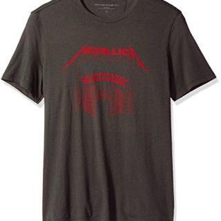 John Varvatos Men's Metallica Sanitarium Graphic Tee, Coal, Medium