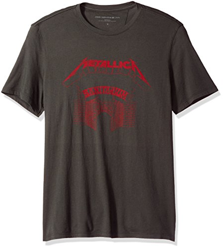 John Varvatos Men's Metallica Sanitarium Graphic Tee, Coal, Medium