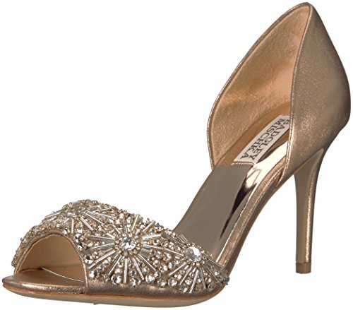 Badgley Mischka Women's Maria Pump, Rose Gold, 6.5 M US