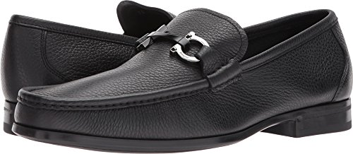 Salvatore Ferragamo Men's Grandioso Bit Loafers, Black, 9.5 D D(M) US
