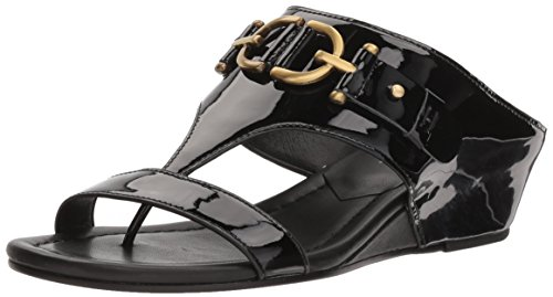 Donald J Pliner Women's Dayna Wedge Sandal, Black, 7 Medium US