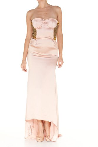 Roberto Cavalli Pink Silk Long Dress, 40, Pink