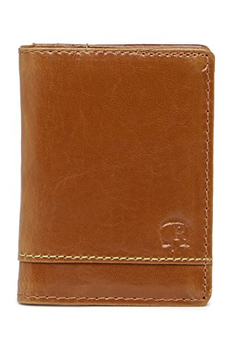 Robert Graham Men's Aberdeen Leather RFID Card Case Wallet, One size, Tan