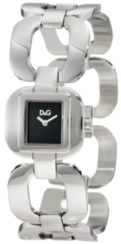 D&G Dolce & Gabbana Women's Bbq Round Square Case Black Dial Watch