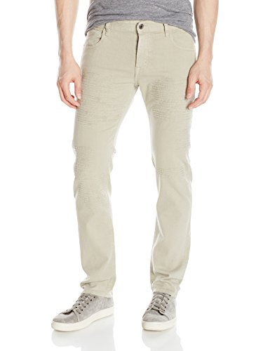 Just Cavalli Men's Daywear Distressed Denim, Sesame, 32