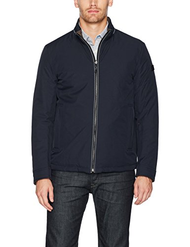 Tumi Men's Reversible Smart Quilted Jacket, Navy/Vintage Khaki, Small