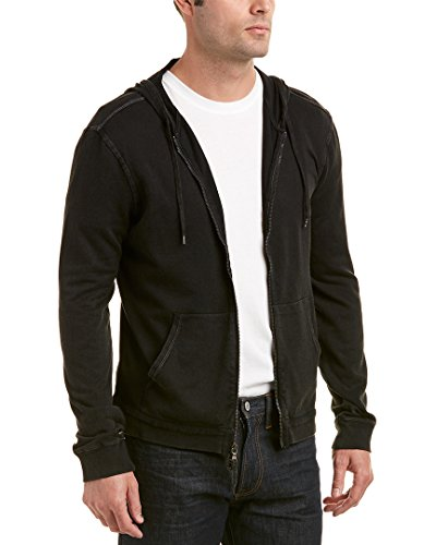 John Varvatos Star USA Mens Hoodie, S, Black