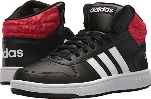 adidas Men's VS Hoops Mid 2.0, Core Black/White/Scarlet, 11.5 M US