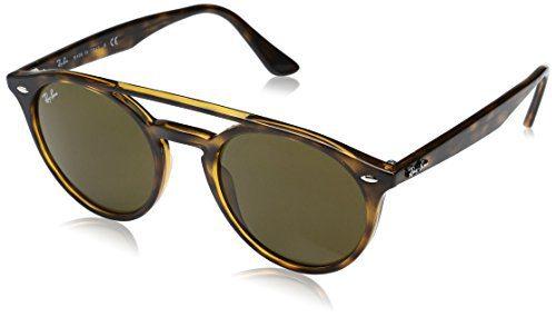Ray-Ban Injected Unisex Round Sunglasses, Shiny Havana, 51 mm