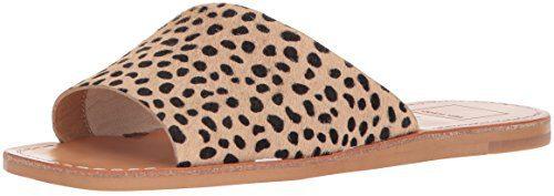Dolce Vita Women's Cato Slide Sandal, Leopard Calf Hair, 8.5 M US