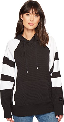 adidas Originals Women's EQT Hooded Sweatshirt Black/White Large