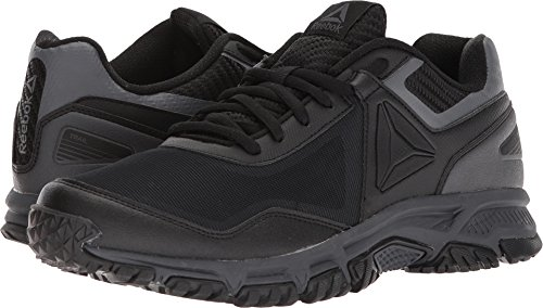 Reebok Men's Ridgerider Trail 3.0 Sneaker, Black/Ash Grey, 10.5 M US