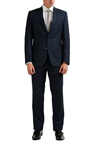 Versace Collection Blue Men's 100% Wool Two Button Suit US 42 IT 52;