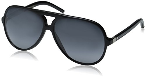 Marc Jacobs Aviator Sunglasses, Black/Gray Gradient, 60 mm