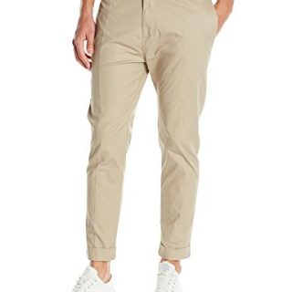 Zanerobe Men's High Street Cuffed Stretch Chino Pants, Tan, 32