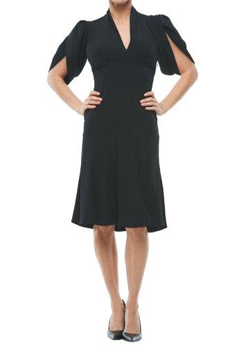 Roberto Cavalli - Puff Sleeve Dress Black, 38, Black