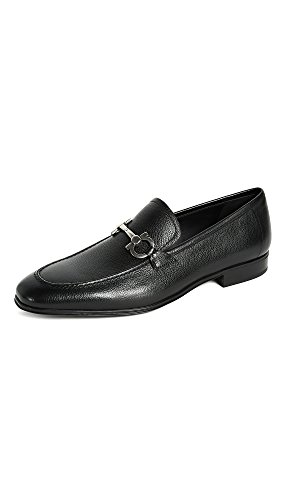Salvatore Ferragamo Men's Flori Bit Loafers, Black, 12.0 EE D(M) US