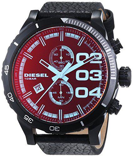 Diesel Men's Double Down Series Analog Display Quartz Black Watch