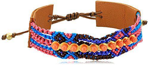 Chan Luu Onyx Mix Pull Tie Friendship Cuff Bracelet
