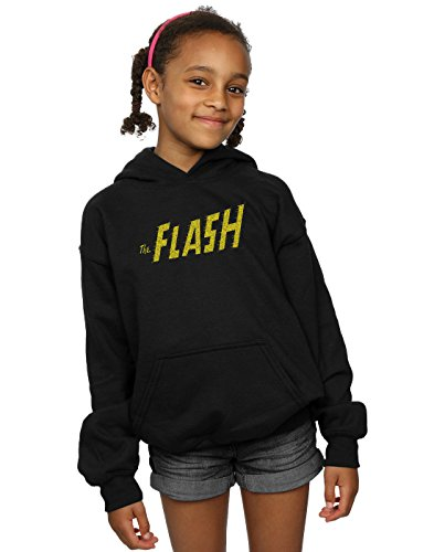 DC Comics Girls Flash Crackle Logo Hoodie
