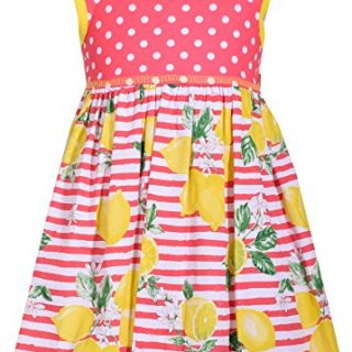 Bonnie Jean Toddler Girls Dots to Pineapple Dress 4T Coral Pink/White/Yellow