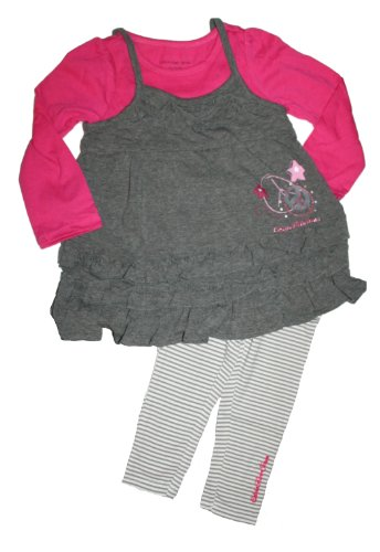 Calvin Klein Toddler Little Girls' Layered Tunic & Leggings Set (4T)