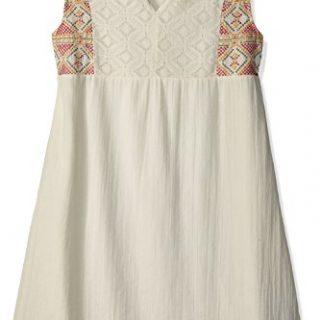 Roxy Big Girls' Second Thought Sleeveless Dress, Marshmallow, 16/XXL