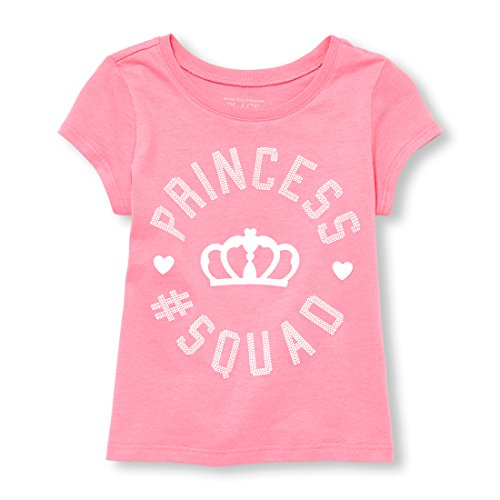 The Children's Place Toddler Girls' Princess Short Sleeve Graphic Tee, Jazzberry, 3T
