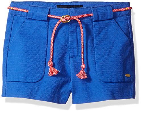 Tommy Hilfiger Little Girls' Woven Short with Belt, Moorish Blue, 4