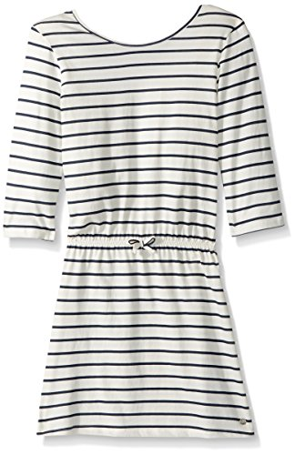 Roxy Big Girls' Lovely Daughters Stripe Dress, Marshmallow Heaven Stripe, 12/L