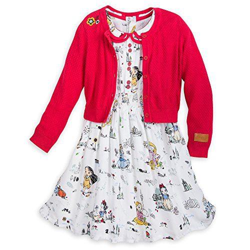 Disney Animators' Collection Dress Set for Girls Size 5/6 Multi