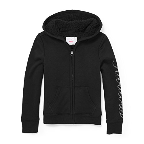 The Children's Place Big Girls' Fashion Hoodie, Black 88862, L (10/12)