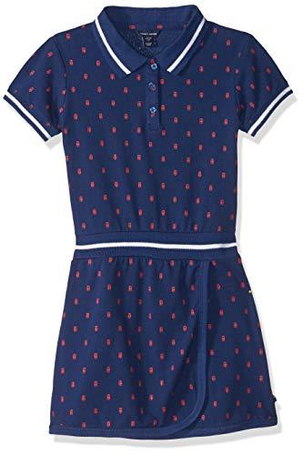 Tommy Hilfiger Big Girls' Pique Dress Rib, Printed Flag Blue, Small 7