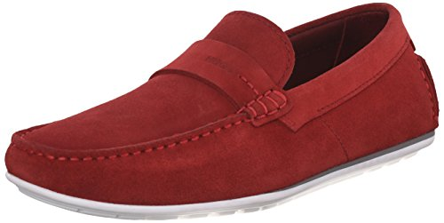 HUGO by Hugo Boss Men's C-Traveso Slip-On Loafer, Red, 12 M US