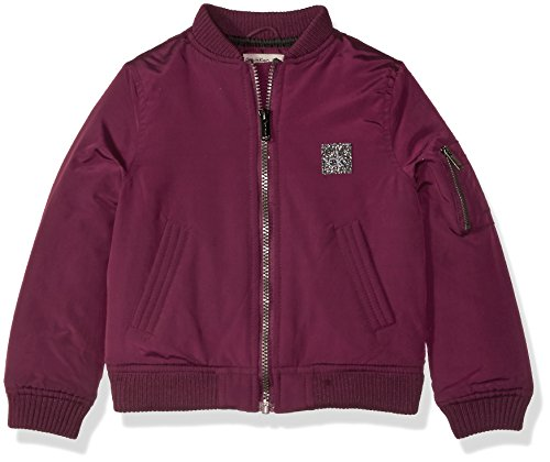 Calvin Klein Little Girls' Aviator Jacket, Merlot, 6X