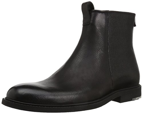 Hugo Boss BOSS Orange by Men's Cultural Roots Leather Zip Fashion Boot, Black, 9 M US