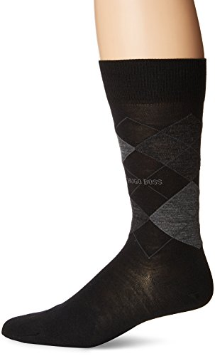 BOSS HUGO BOSS Men's John Rs Argyle Us, Black, 7-13