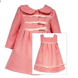 Bonnie Jean Little Girls Coral Coat Dress 6