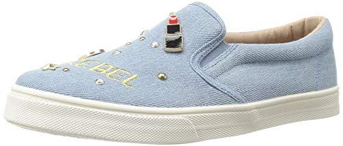 The Children's Place Girls' Slip Sneaker, Denim, Youth 13 Child US Little Kid