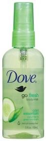 Dove go fresh Cool Essentials Body Mist, 3 Ounce
