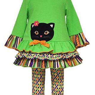 Bonnie Jean Little Girls Halloween Cat Knit Legging Set (6x)