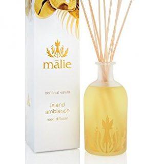 Malie Organics Malie Island Ambiance Reed Diffuser, Coconut Vanilla