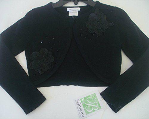 Bonnie Jean Girls Black Shrug Sweater (L)
