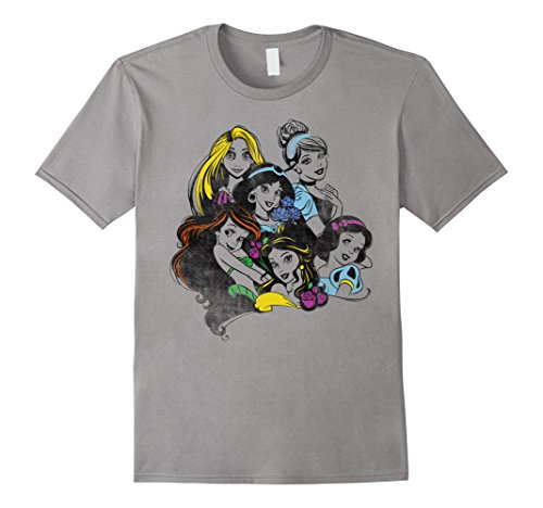 Disney Princess Group Bold Color Pop Graphic T-Shirt
