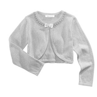 Bonnie Jean Flyaway Metallic Cardigan, Little Girls (Silver, 5)