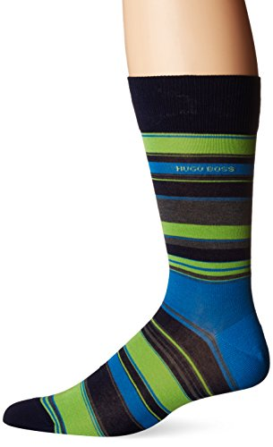 BOSS HUGO BOSS Men's Rs Design Block Stripe, Navy, 7-13