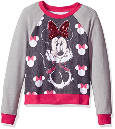 Disney Big Girls' Minnie Mouse Hacci Sequin Pullover