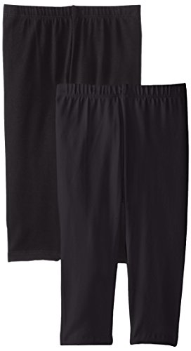 The Children's Place Big Girls' Cropped Legging (Pack of 2), Black, Medium (7/8)